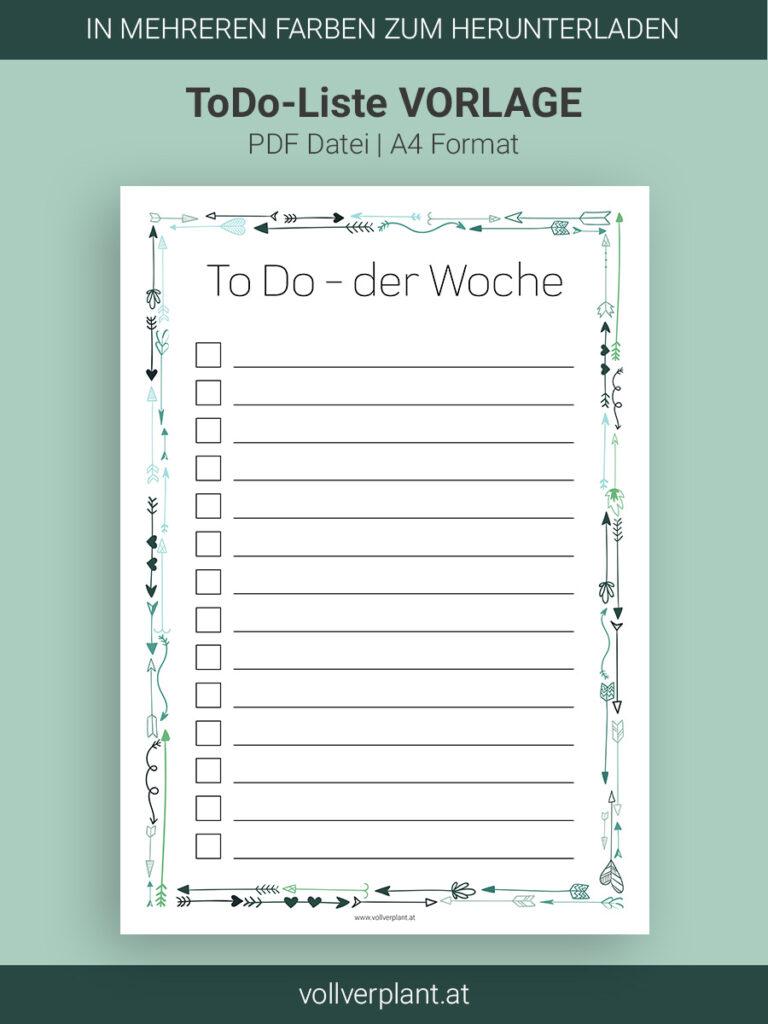 ToDo-Liste - Pfeile (grün)